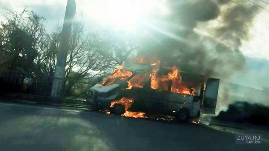 поджог микроавтобуса в ай-даниль