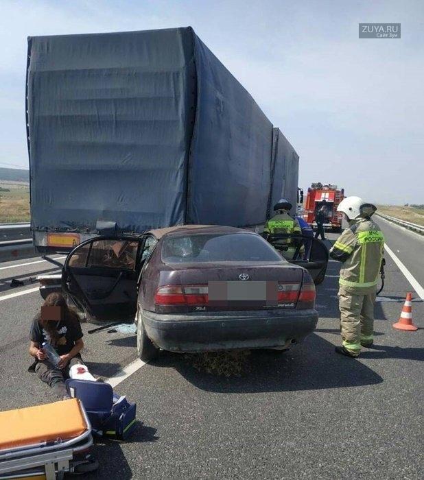 Авария в Белогорском районе, Фото МЧС РК