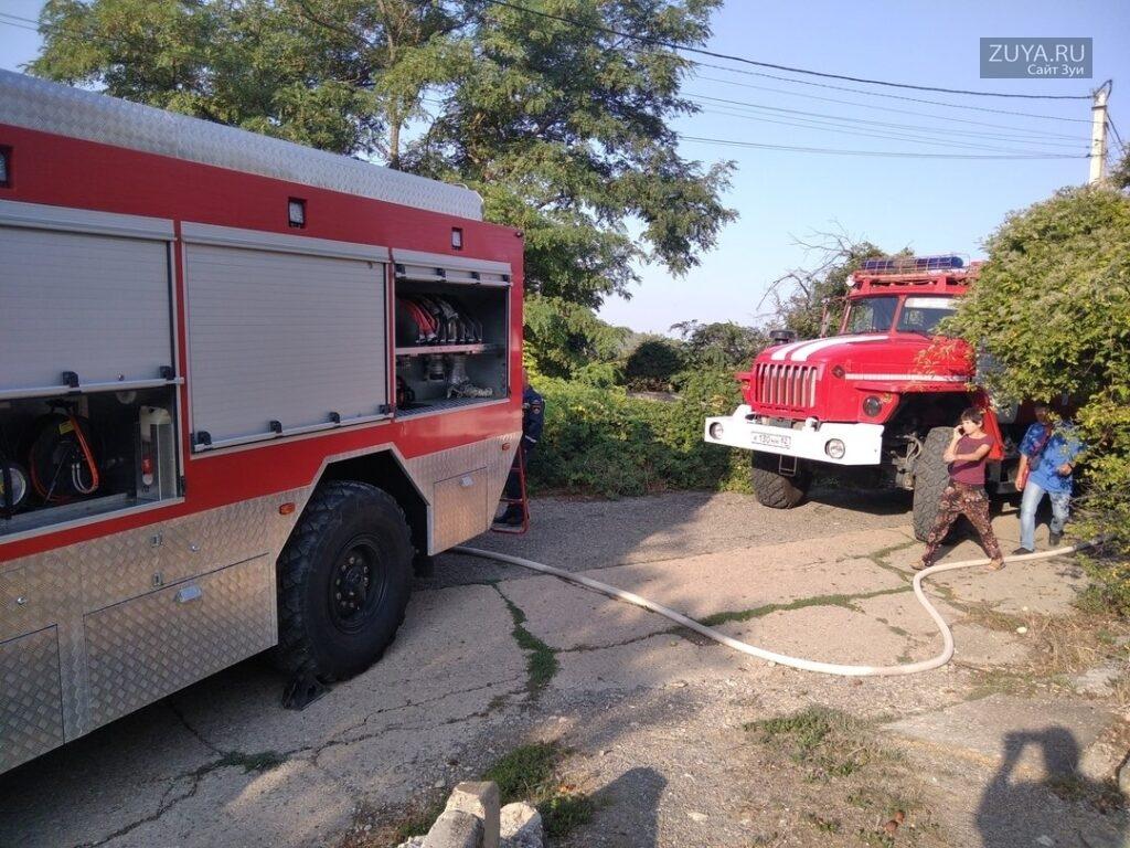 Пожар в Бахчисарайском районе 2021