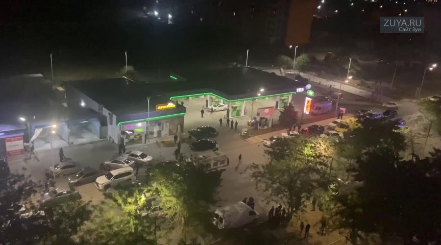 Стрельба на АЗС в Евпатории Видео с камер